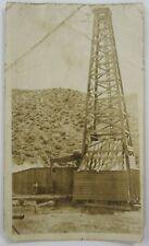 Vintage Oil Derrick Photo Taft Bakersfield Kern County Ca Wood Pump Jack 1910's