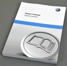 Volkswagen VW Golf GTI GTD, Owners manual, English edition 5.2012