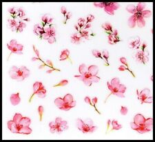 Elegant Pink Flower Stickers for Nails