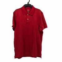 J.Crew Mens Medium Solid Red Short Sleeve Classic Two Button Knit Polo Shirt NEW