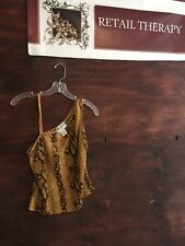Park Avenue Collection Animal Print Tank Top M