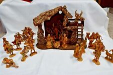 Vintage Fontanini Depose *All Spider Mark* Nativity Set - 27 Pcs. with Creche
