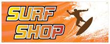 Surf Shop Banner Ocean Wave Hang Ten Summer Hot Retail Store Sign 36x96