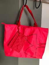 Under Armour Women's Big Logo Tote Large Compartment with Zipper Pouch Pink