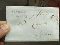 1829 PREFILATELICA DA TIGNALE NEL BRESCIANO A BRESCIA CON TESTO