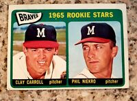 1966 Topps #461 Phil NIEKRO  Rookie Atlanta BRAVES HOF  mint  with Clay Carroll