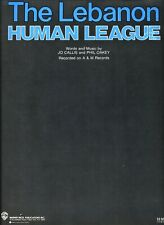 HUMAN LEAGUE THE LEBANON SHEET MUSIC PIANO/VOCAL/GUITAR/CHORDS 1984 RARE NEW