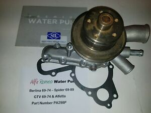Alfa Romeo Spider, GTV & Berlina 69-89  Water Pump (Saleri Italy) PA298P