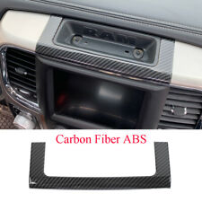 Carbon Fiber Center Console Storage Box Decorative Cover For Dodge RAM 2010-2017