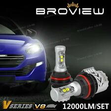 BroView V8 HB1 9004 Cree 12000LM Headlamp Dual Beam LED Bulbs Replace HID w/ Fan