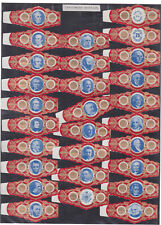 Série complète  Bague de Cigare Vitola Espagne BN115368 Présidents américains 2