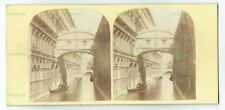 OLD STEREOVIEW PHOTO CARD BRIDGE OF SIGHS VENICE ITALY ANTIQUE 1860S
