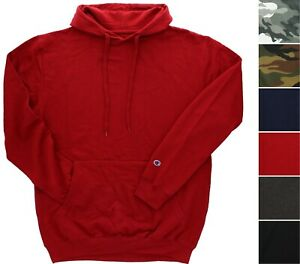 Champion Men's Pullover Hoodie Hooded Sweatshirt Logo Patched Sleeve Big & Tall