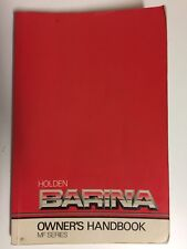 Holden Barina MF Series Owners Handbook 1989-1990 Car Manual Book
