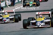 Nelson Piquet & Nigel Mansell Williams FW11B austríaco Grand Prix 1987 fotografía
