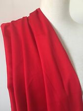 Red cotton spandex sateen fabric - per metre