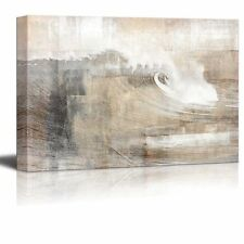 Abstract Canvas Art - Huge Wave Composition - Giclee Print - 32x48 inches