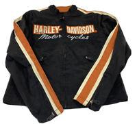 Harley-Davidson Women's Small Jacket Nylon Black Orange  Motorcycle Riding