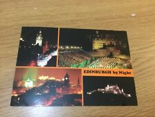 VINTAGE EDINBURGH BY NIGHT VARIOUS VIEWS PUBLISHED BY PHOTO PRECISION POSTCARD