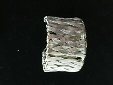 Liv Oliver Chloe Collection Silver Wire Mesh Wide Cuff Bracelet