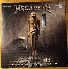 MEGADETH EXPOSURE OF A DREAM (1992) Laserdisc LD