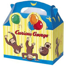 CURIOUS GEORGE FAVOR BOXES (4) ~ Birthday Party Supplies Treat Loot Goody Yellow
