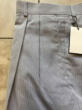 NWT Palm Beach Blue White 100% Cotton Dress Pant Regular Pleated Front Size 32