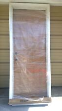 "NEW: Nice THERMA-TRU Home 30""x80"" Fiberglass Exterior DOOR  & Wood Frame"