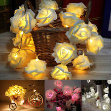 20 LED Battery Rose Flower String Lights Wedding Party Christmas Decoration TC