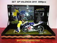 MINICHAMPS VALENTINO ROSSI 1/12 SET YAMAHA + FIGURE 2010 GP VALENCIA GIFT BOX