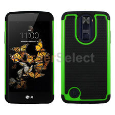 NEW Hybrid Rubber Hard Case for Android Phone LG Aristo LV3 (K8 2017) Green HOT!
