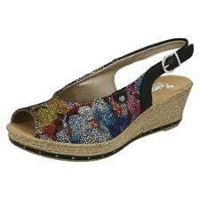 Wedge Canvas Floral Slingbacks Heels for Women