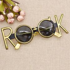 Gold Rock Costume Glasses Celebration Party Decoration Eyewear Gift Supplies New