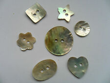 50 pcs MIXED Mother of Pearl Shell  Scrapbooking // Sewing Buttons  Free UK p&p