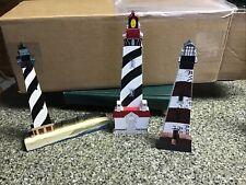 Shelia's Set Of 3 Lighthouses, Charleston, Currituck, Cape Hatteras