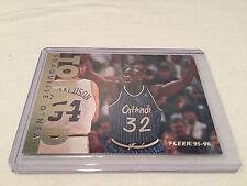1995/96 Fleer Basketball Shaquille O'Neal Orlando Magic Total D insert #7