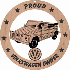Volkswagen Thing Wood Ornament Engraved