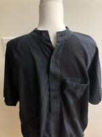 Vintage 90s 80s Street Club Black  Short Sleeve Shirt Top streetwear Large