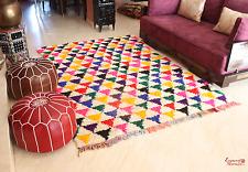 Moroccan Rag Rug Vintage Boucherouite Wool  227x157cm / 7.5x5.15ft. (VR5)