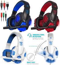 Cuffie Gaming per PS4 PC MAC NUOVA XBOX ONE, LED USB Con Microfono Volume Gamer