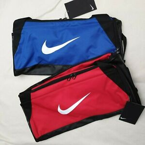 NIKE BRASILIA TRAINING SPORTS DUFFLE BAG CARRYALL 40L CK0939 - RED OR BLUE