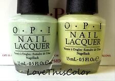 2 x Opi Nail Lacquer This Cost Me A Mint & Gargantuan Green Grape Cream Lot
