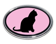 Cat Pink and Chrome Car Truck Emblem High Quality Made in the USA! (NEW)