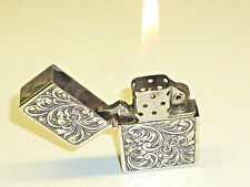 Vintage 800 silver case (Made in Italy) - Zippo lighter Insert PAT. 2517191-RARE