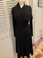 Talbots Black Fit And Flair Dress Jersey Size 8 Petite New With Tags Retail $148