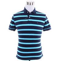 Tommy Hilfiger Men Short Sleeve Stripe Custom Fit Pique Polo Shirt -Free $0 Ship