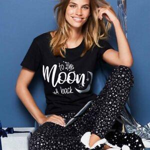 Avon Ladies Womens Short Sleeve Novelty Printed Pyjamas Set PJs Size 14 16