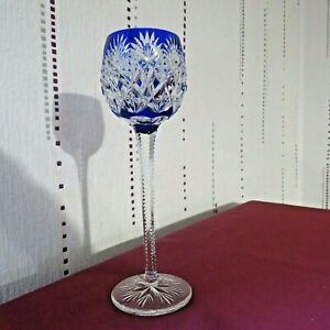 Glass Roemer Colour Blue Dark Crystal saint louis Model Florence H 24 CM