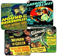 Sherlock Holmes Movie Poster Coasters Set Of 4. High Quality Cork Hound Watson