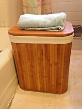 Rectangle Bamboo Hamper Laundry Basket,Storage Basket,Largest one of Two